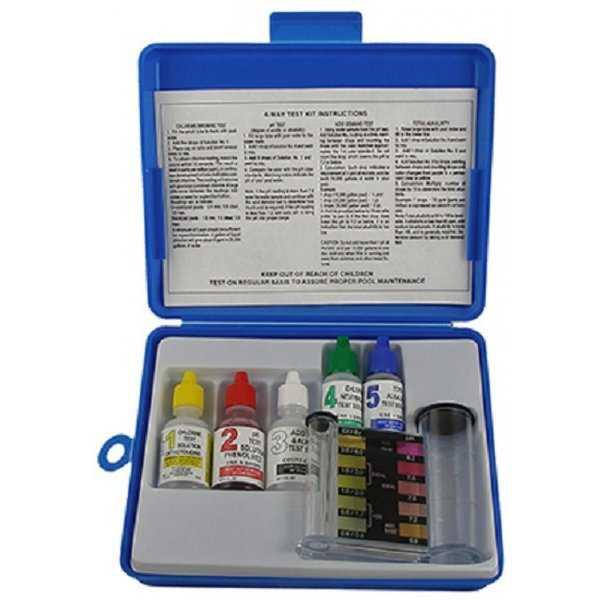 JED Pool Tools 00-486 5-Way Pool Test Kit