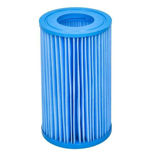 8' Inorganic Antimicrobial Swimming Pool Replacement Filter Core Cartridge - Blue