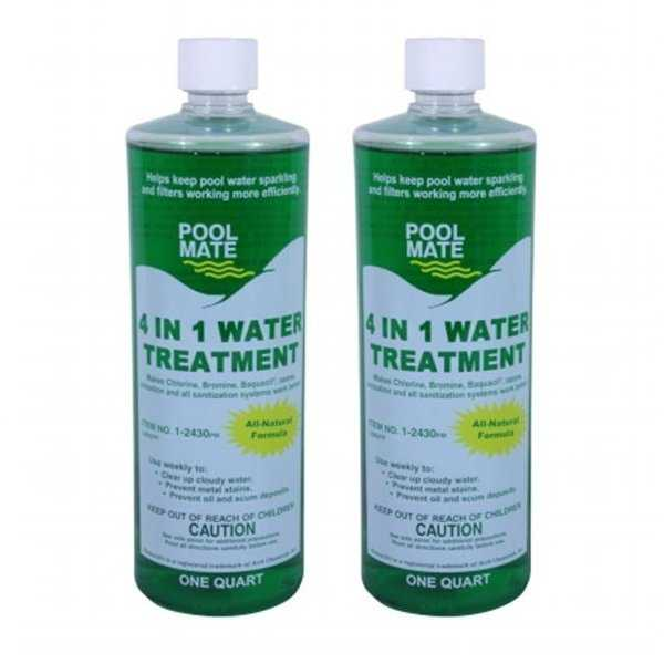 Pool Mate 1-2430-02 4-in-1 Natural Water Treatment And Clarifier